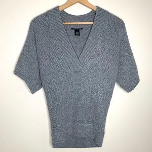 Lucky Brand V-Neck Sweater Gray Sz Small